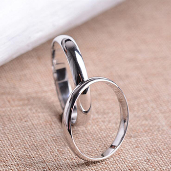 Original Real Pure 925 Sterling Silver Rings For Women Men Simple Couple Ring Smooth Wedding Band For Lovers Gift R031 12