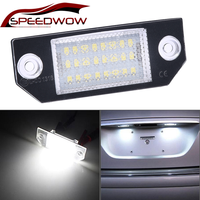 SPEEDWOW Car License Plate Lights 12V LED Number Lamps Plate Light Tail Light For 03-18 Ford Focus C-MAX 03-08 MK2 Auto Parts