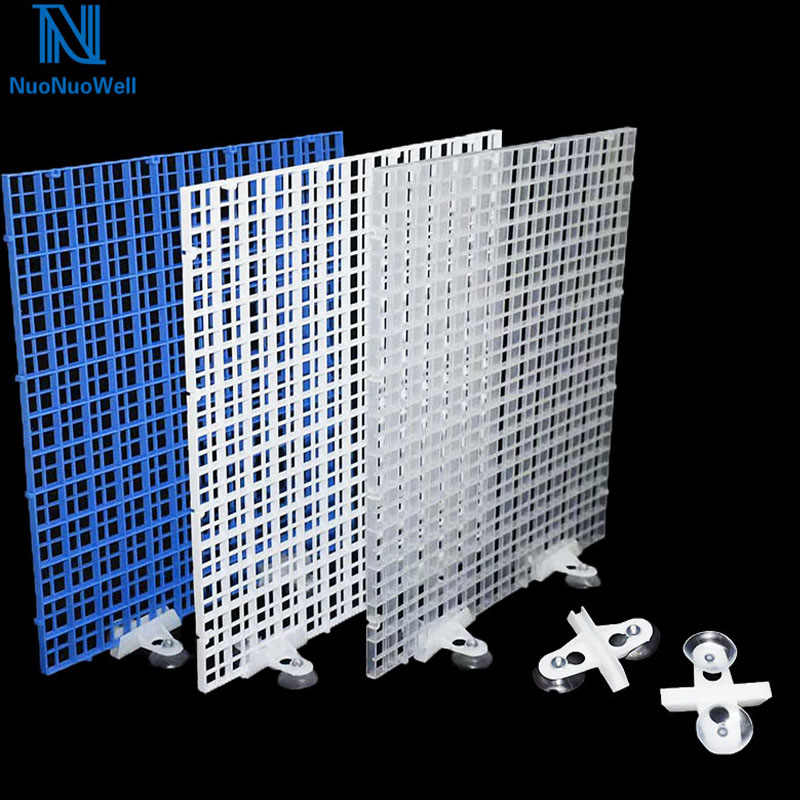 Nuonuowell DIY Aquarium Penyaringan Grid Piring Tangki Ikan Papan Isolasi Divider Filter Patition Papan 1 Cm * 1 Cm Lubang 6 Pcs