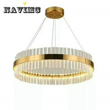 High Quality Stainless Steel Modern Chandelier LED Lamp AC110V 220V Lustre Gold  Home Lighting