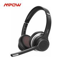Mpow hc5 bluetooth 5.0 fone de ouvido para centro chamada motorista escritório sem fio com fio 2 em 1 22h bateria vida cvc 8.0 cancelamento de ruído mic