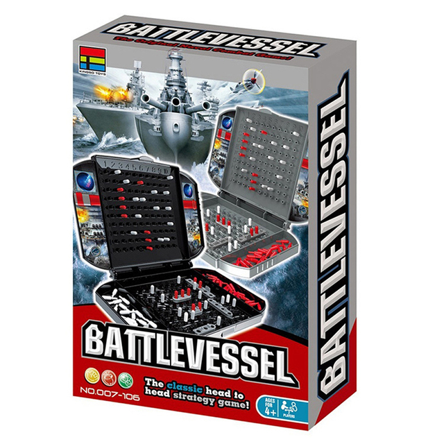 Battleship The Classic Naval Combat Strategy Board Games Board Game Classic Puzzle Game Random Color Box Packaging 4