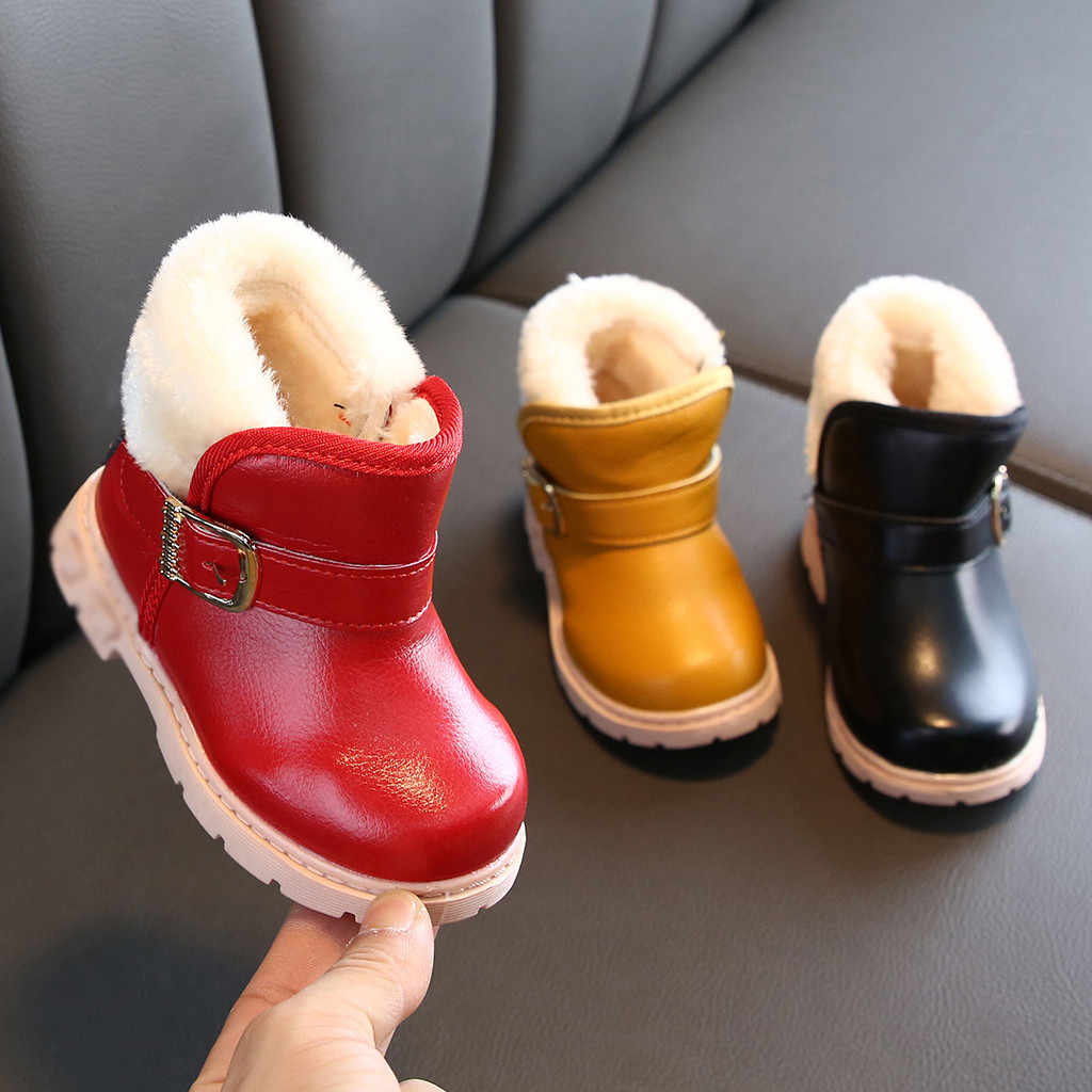 Toddler Infant Kids shoes Baby Boys Girls Fashion Solid Ankle Sport Shoes Boots Solid Hook & Loop Breathable Rubber Baby Boots