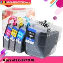 4 шт lc3219 lc3219xl полный чернильный картридж для принтера