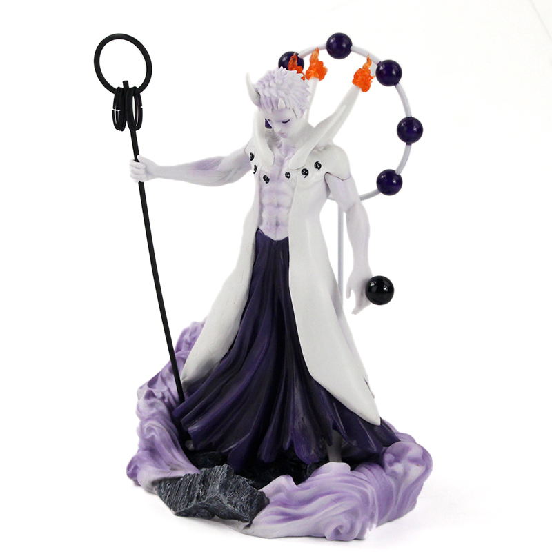 25-27cm Naruto Figure Statue Uchiha Obito Rikudou Sennin Decoration Toys PVC Collection Model Doll Gift 41