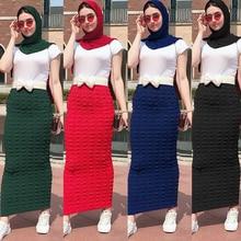 Faldas Mujer Moda 2019 Winter Abaya muslim High Waist Bodycon Maxi Pencil Long Skirt Jupe Longue Femme Skirts Womens Clothing