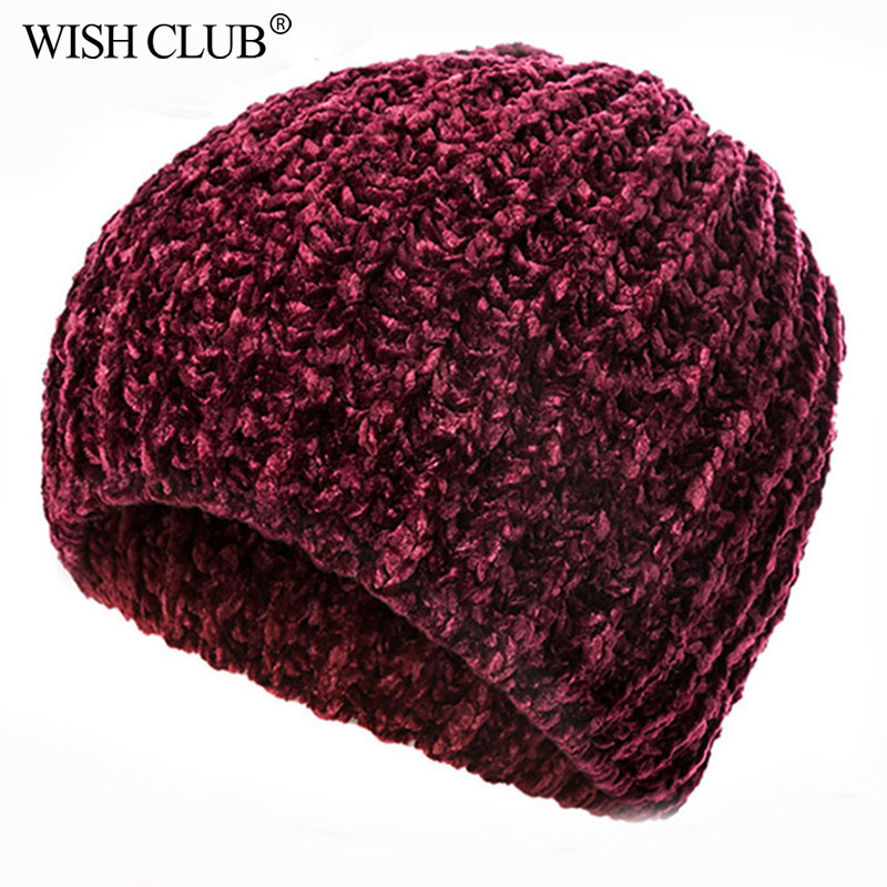 2019 New Stylish Winter Hat Chenille Material Winter Caps For Women Warm Knitted Hat Female Autumn Caps Lady Hot Selling