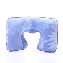 Надувная подушка с принтом u образная компактная дорожная для