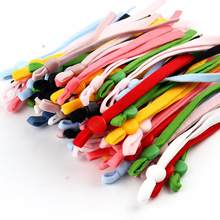100 adet düz maske elastik bant kauçuk halat kulak asılı halat ayarlanabilir DIY yumuşak siyah beyaz elastik dikiş maske zanaat aksesuarları