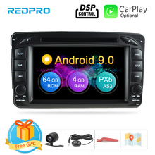 """7"""" Android 9.0 Car Multimedia Player For Mercedes Benz Clk/w209/w203/w208/w463 1998 2004 Stereo DVD Radio Video GPS Navigation"""