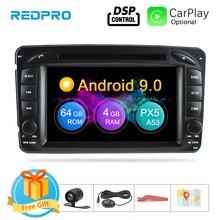 """7 """"Android 9,0 reproductor Multimedia para Mercedes Benz Clk/w209/w203/w208/w463 1998 2004 estéreo DVD Radio vídeo GPS de navegación"""