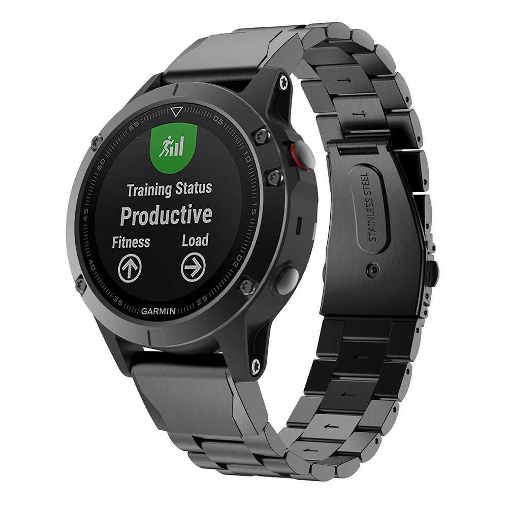 26 22 20MM bracelet de montre pour Garmin Fenix 6S 6X 6 Pro 5X 5 5S 3HR D2 S60 montre à dégagement rapide bracelet de poignet en acier inoxydable