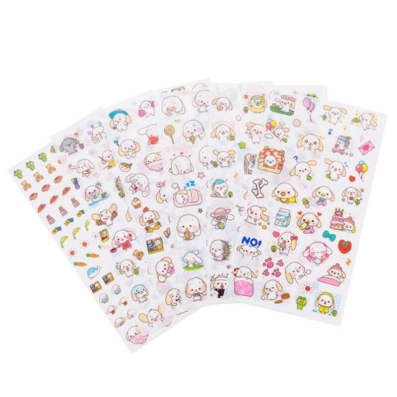 Купить с кэшбэком 6sheets/pack per lot Kawaii Japan Cats' life PET sticker hot sell Students' decoration Diary stickers office school supplies
