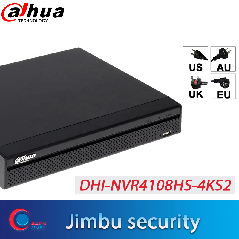 Dahua NVR 4K Video recorder 8ch p2p NVR4108HS 4KS2 H 265 up to 8MP Resolution HDMI