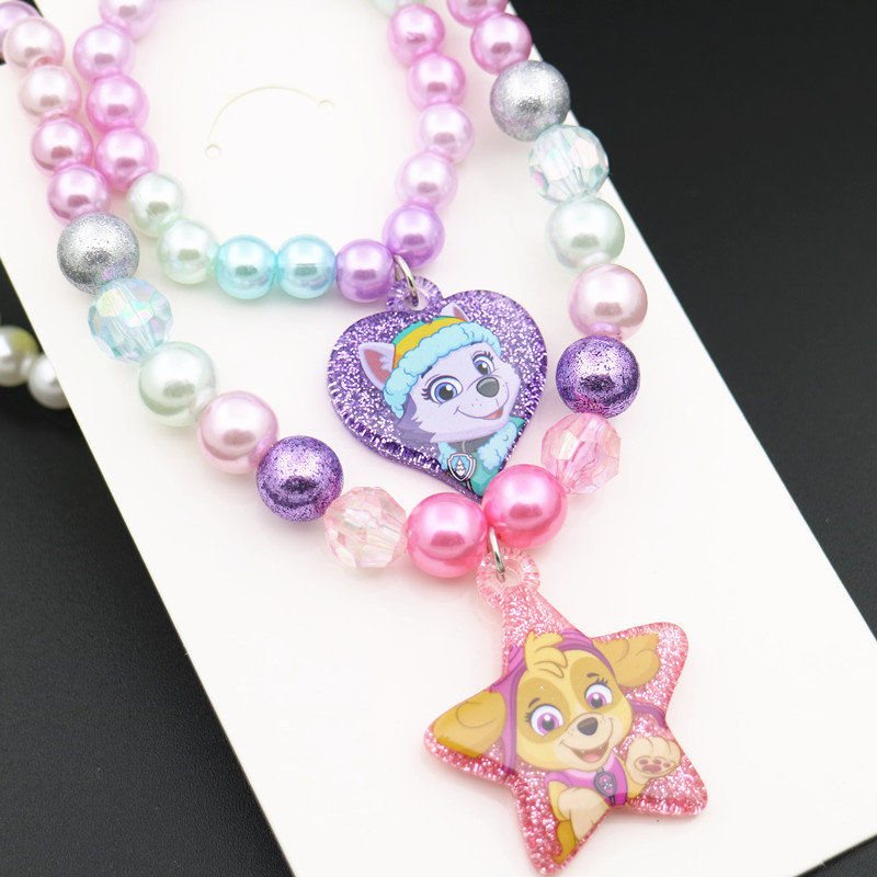 Paw Patrol Original Figure Toys Necklace Bracelet Doll Accessories Paw Patrol Toys Dolls Necklace Girl Birthday Gift Princess