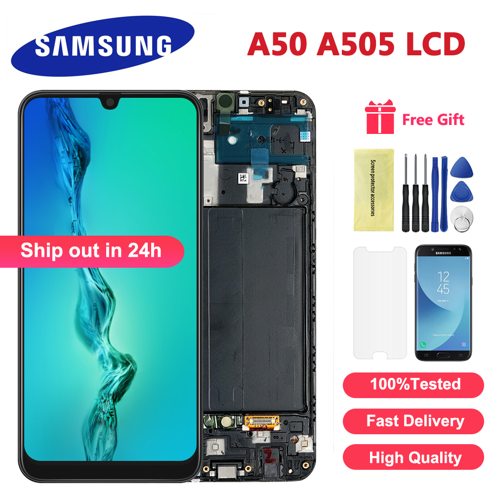New For Samsung Galaxy A50 SM A505FN/DS A505F/DS A505 LCD Display Touch Screen Digitizer Assembly For Samsung A50 LCD|Mobile Phone LCD Screens|   - AliExpress
