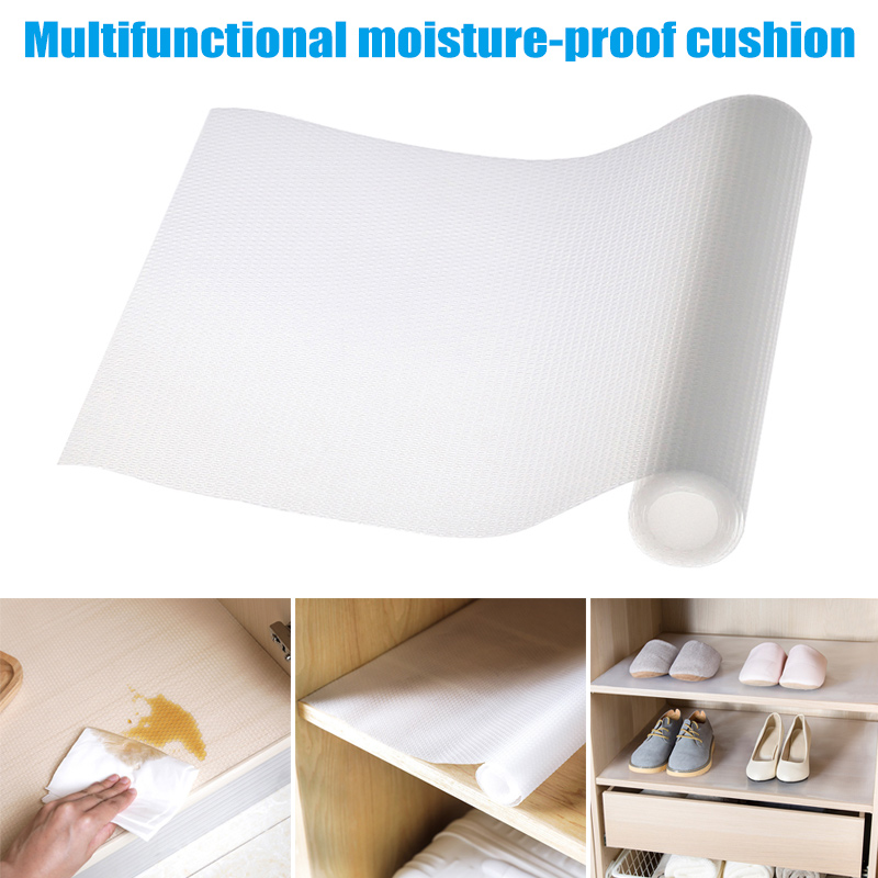 Dropshipping 1 Pcs Drawer Liner Cabinets Pad Mat Transparent Non Slip For Wardrobe Cupboard Kitchen P666
