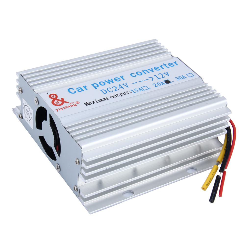 Car Power Supply DC 24V To 12V 20A Converter Step Down Inverter Transformer