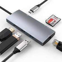USB C Multiport Adapter for Apple MacBook Pro 13/15(Thunderbolt 3)2018,2017,2016,2018 Mac Air USB C Hub,HDMI 4K,2USB 3.0,Gigabit