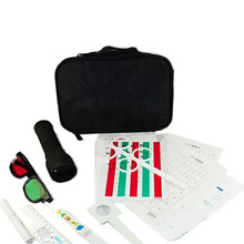 Penlight-Chart-Tester Optometry Worth Amblyopia Red/green Ruler Test-Tools-Kit Flipper