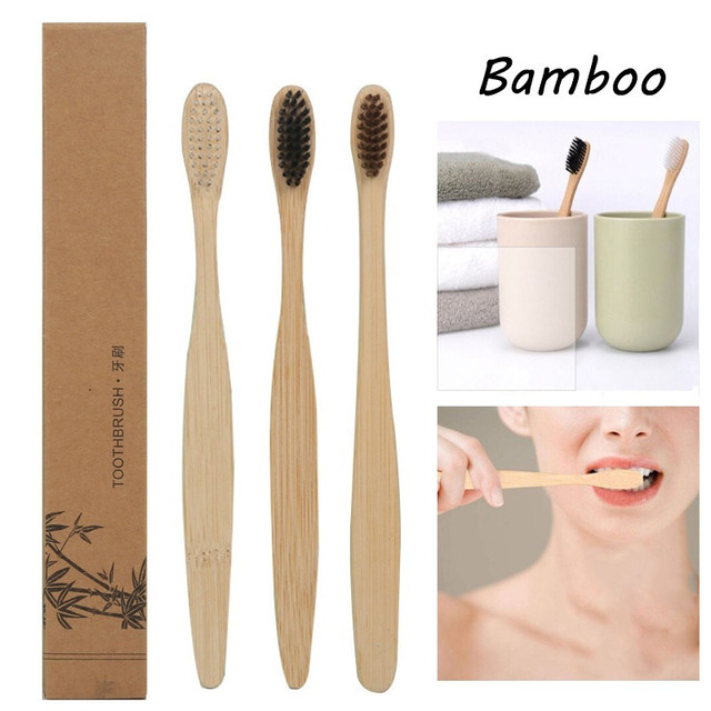 1pcs Toothbrush Natural Bamboo Handle Rainbow Whitening Soft Bristle Bamboo Toothbrush Eco-friendly Tooth Teeth Brush Oral Care 1