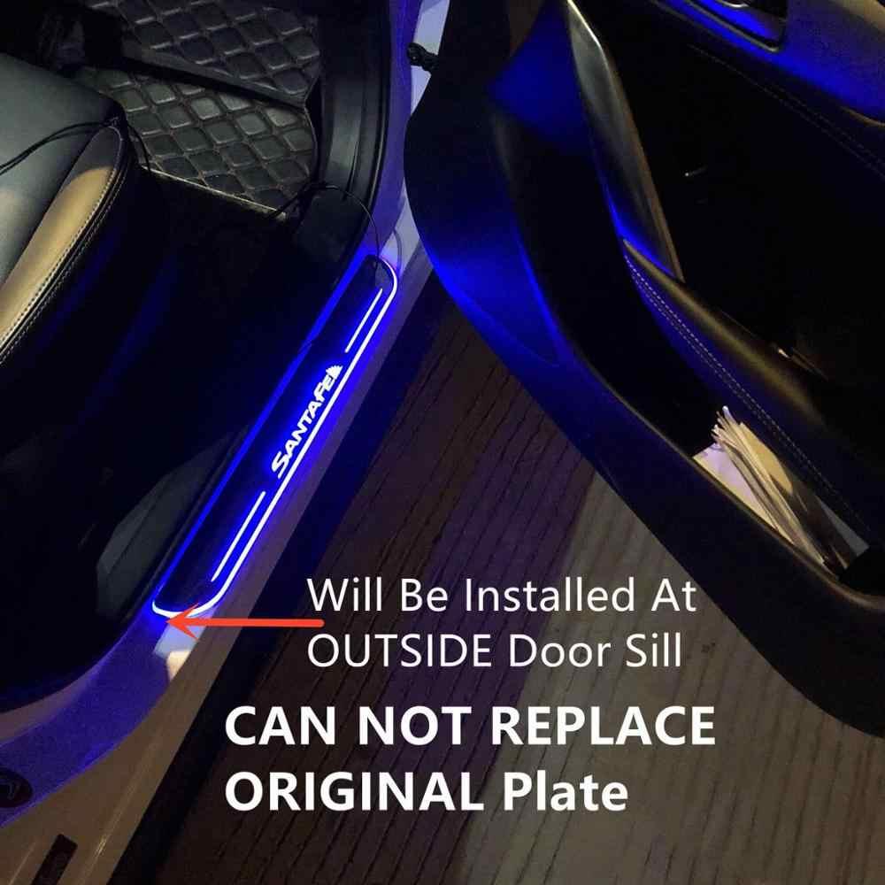 SJ Custom Fit Trim Pedaal Auto Exterieur Onderdelen LED Instaplijsten Scuff Plaat Auto Accessoires licht Voor HYUNDAI I40 2014 15 16 17 2018
