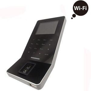 Zk f22 biométrico comparecimento do tempo da impressão digital e sistema de controle acesso com 13.56mhz mf/ic cartão tcp/ip finger print fechadura da porta