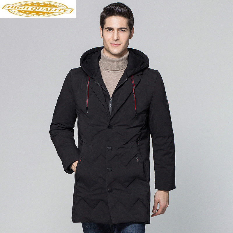 Winter Jacket Men Long Hooded Men's Down Jacket Thick Warm Down Coat Black Parka Male Jackets Casaco Masculino KJ562