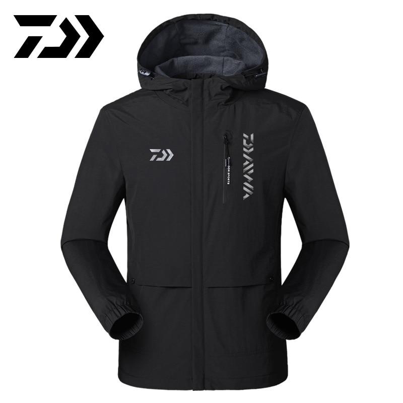 reflexivo daiwa jaqueta de pesca roupas de pesca ao ar livre acampamento manter quente com capuz