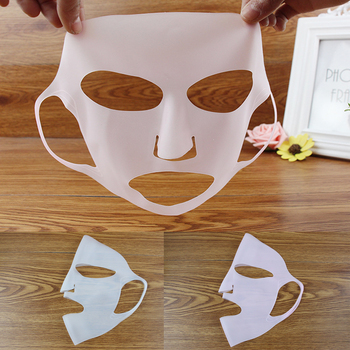 Reusable Ear-Hook Silicone Facial Mask Cover Prevent Serum Evaporation Face Lifting Mask Beauty Face Skin Care Tools image
