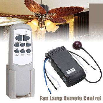 Universal Home Ceiling Fan Light Wind Speed Adjustment Timing Remote Controller Digital Lamp Wireless Switch Control Receiver