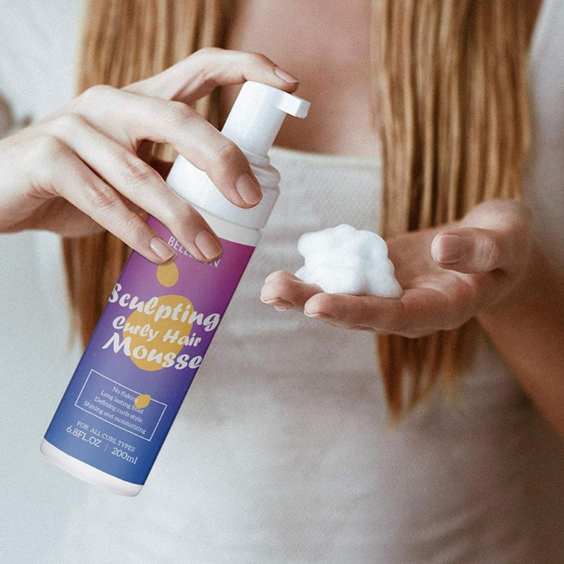 200ml Strong Hold Hair Mousse Curly Hair Mousse Styling Define Curly Hair Finishing Anti-Frizz Fixative Hair Foam Mousse