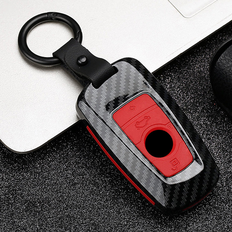 Car Key Case Cover Protection Shell Accessories for BMW new 1 3 4 5 6 7 series F10 F20 F30 smart 3 buttons Keychain Keyring