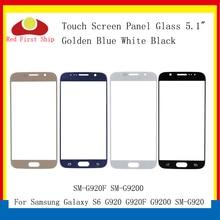 10 adet/grup Dokunmatik Ekran Samsung Galaxy S6 G920 G920F G9200 SM G920F Dokunmatik Panel Ön Dış S6 LCD Cam Lens yedek