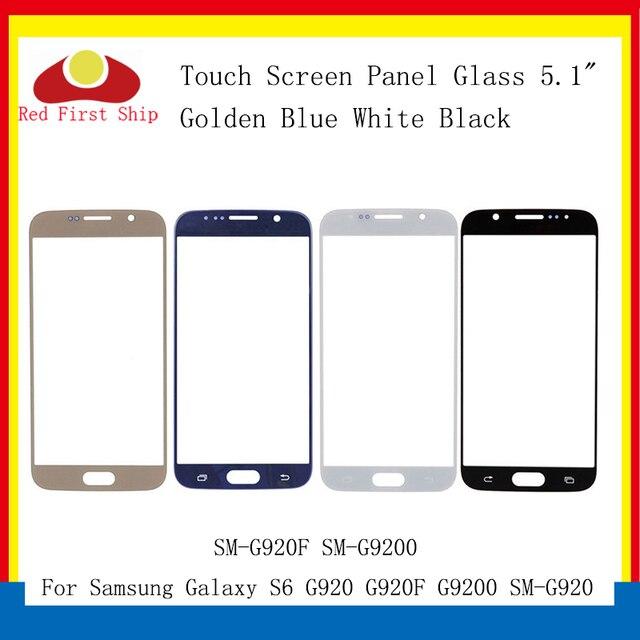 Pantalla táctil para Samsung Galaxy S6 G920 G920F G9200 SM G920F, repuesto de lente de cristal LCD, exterior, 10 unidades por lote
