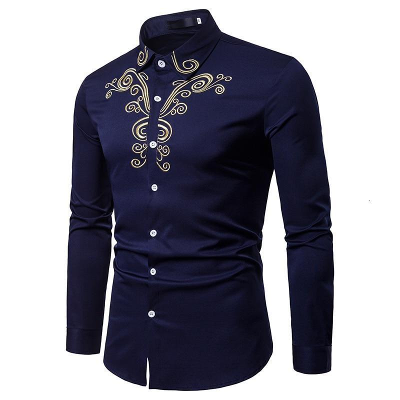 Africa Man Muslim Shirt Long Sleeve Blouse Embroidered Lapel Shirt Muslim Clothes Arab Short Tunic Islamic Clothing