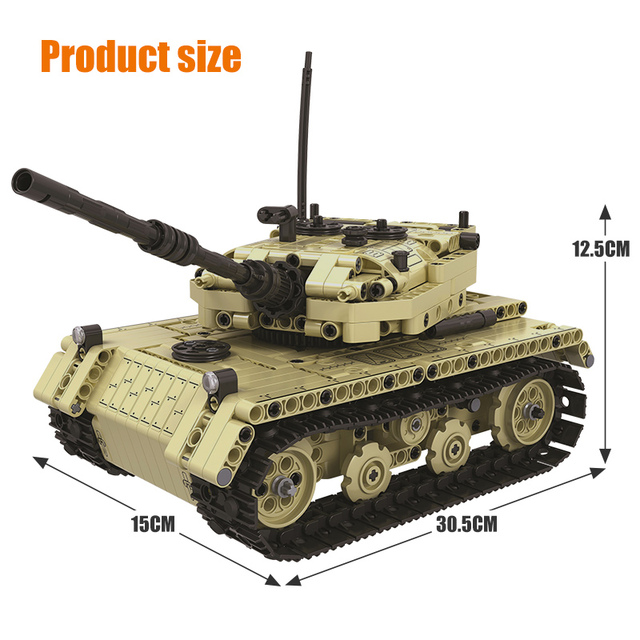 759PCS City Military Remote Control Electric Tank Model Building Blocks Technic RC Tank 2 in 1 Bricks Toys For Boys Gift