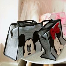 2019 New Mickey Minnie Handbag Women Storage Bag Wash