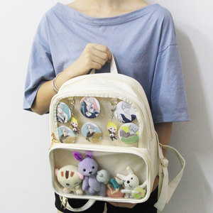 Image 3 - Ita Bag Backpack Clear Transparent Women Diy Bag Ladies Transparent Backpack Teenage Girls Lovely Lolita bag Itabag 7 colors
