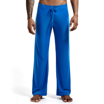 Mens yoga pants elastic waistband fitness training joggers loose lightweight slacks beach fashion casual pants