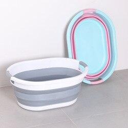 Wielofunkcyjne wiadro do domu pojemnik na zabawki do prania składana umywalka przenośne narzędzia na kemping akcesoria do myjni samochodowych w Wiadra od Dom i ogród na