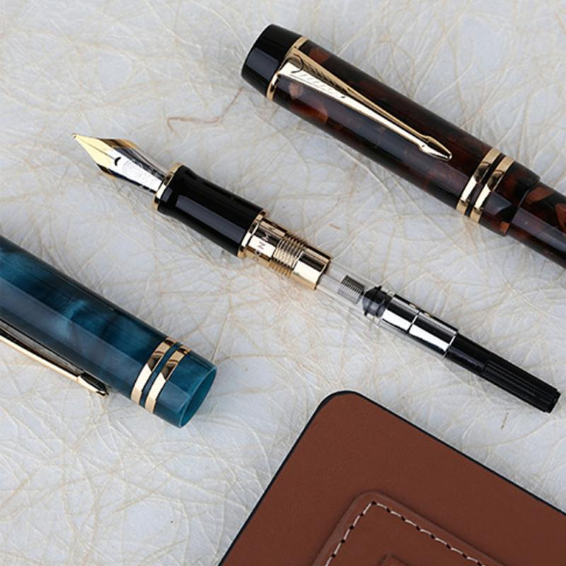 Moonman M600S Gifts Home Iridium Fine Nib Fountain Pen Study Supplies Office Smooth Ink Vacuum Filling Stationery Double Color-in Fountain Pens from Office & School Supplies