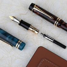Moonman M600S ของขวัญ Iridium Fine Nib Fountain Pen อุปกรณ์การศึกษา Office Smooth หมึกสูญญากาศบรรจุเครื่องเขียนสีคู่