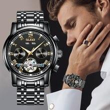 Модные мужские механические Автоматические часы olevs роскошные