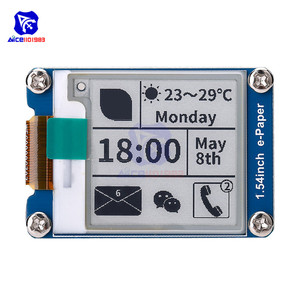 """Image 1 - diymore 1.54"""" e Paper Module 200*200 Electronic Ink Display SPI Interface for Raspberry Pi Arduino STM32"""