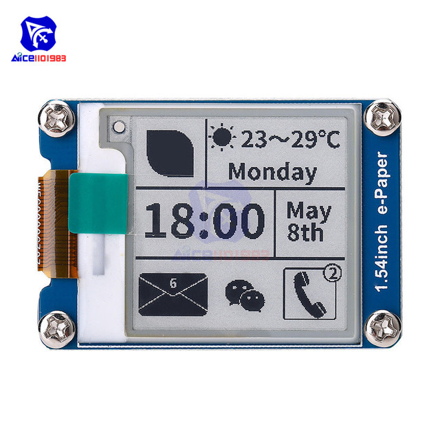 """diymore 1.54"""" e Paper Module 200*200 Electronic Ink Display SPI Interface for Raspberry Pi Arduino STM32"""
