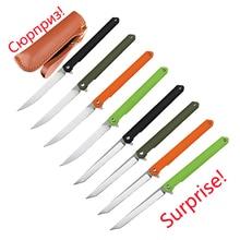 New folding knife Nylon fiberglass 8cr13mov bearing tactical Pocket knives outdoor self defense hunting cutter fruit tool knife