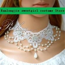 Diy Оригинальное женское кружевное ожерелье изысканное свадебные