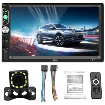 Double Din Car Stereo 7 Inch Press Screen Car MP5 Player Support Backup Rear View Camera FM Radio Car Audio