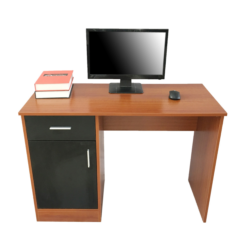 [UK Warehouse] Color Matching Practical Computer Desk PC Table Brown & Black Free Shipping UK Drop Shipping
